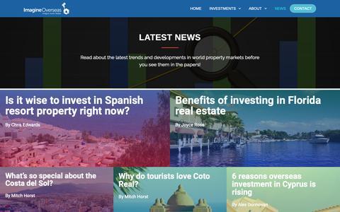 Screenshot of Press Page imagine-overseas.com - Latest News - Imagine Overseas - captured Nov. 6, 2018