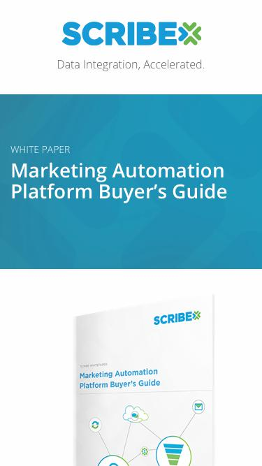 White paper: Marketing Automation Platform Buyer's Guide | Scribe Software
