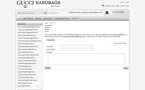 Screenshot of Contact Page vernastarlingphotography.com - Contact Us : Gucci Messenger Bag - captured Oct. 29, 2014