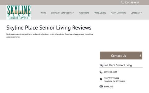 Screenshot of Testimonials Page milestoneretirement.com - Senior Living Resources | Skyline Place Senior Living - captured Oct. 23, 2018