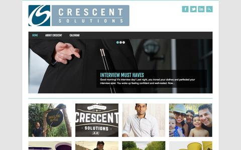 Screenshot of Blog crescentsolutions.net - The People Who Power Your Technology | Crescent Solutions Blog - captured Feb. 24, 2016