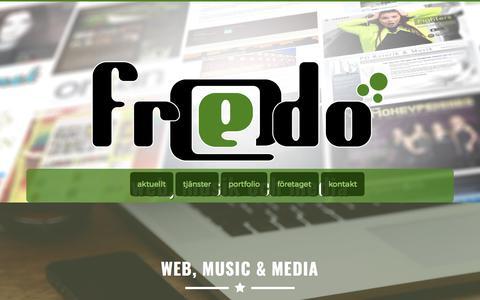 Screenshot of Home Page fredo.nu - Fredo Production - Webb, Musik och Media - captured Oct. 14, 2017