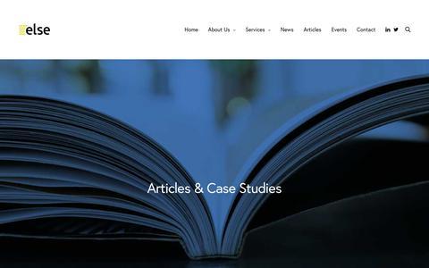 Screenshot of Case Studies Page elselaw.co.uk - Case Studies   Else Solicitors - captured Dec. 14, 2018