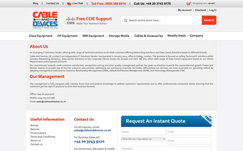 Screenshot of About Page cableanddevices.co.uk - Cable & Devices - Best Company for Customer Services | Lowest Price & Fastest Shipping worldwide - captured Jan. 24, 2016