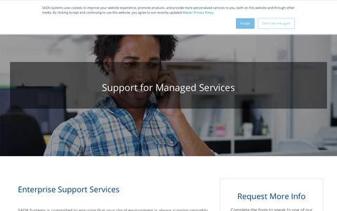 Screenshot of Support Page sadasystems.com - IT Services Support | Managed Services Provider - captured June 19, 2019
