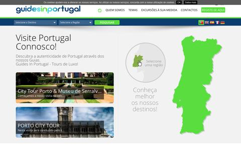 Screenshot of Home Page guidesinportugal.com - Guides in Portugal - GUIDES IN PORTUGAL - captured July 9, 2018