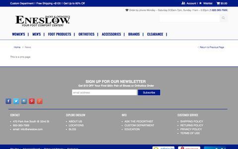 Screenshot of Press Page eneslow.com - News - captured Sept. 22, 2018
