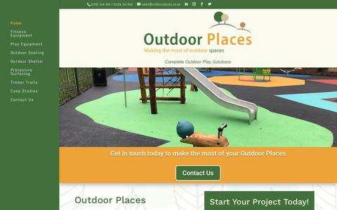 Screenshot of Home Page outdoorplaces.co.uk - Outdoor Places | Outdoor Places - Making the most of outdoor spaces - captured Oct. 20, 2018