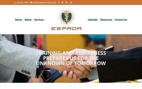 Screenshot of Case Studies Page espadaservices.com - ESPADA is your shop for risk reduction and mitigation | ESPADA LOGISTICS AND SECURITY GROUP - captured Sept. 26, 2018