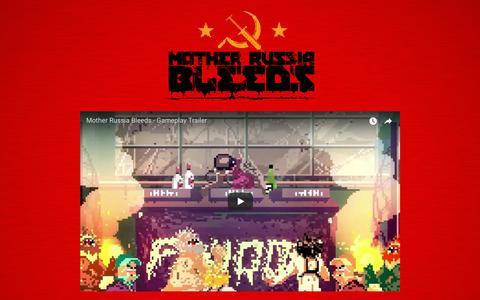 Screenshot of Home Page motherrussiableeds.com - MOTHER RUSSIA BLEEDS - captured Sept. 27, 2018