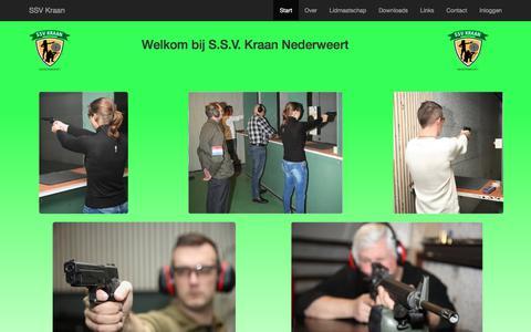 Screenshot of Home Page svkraan.nl - SSV Kraan - captured July 26, 2018