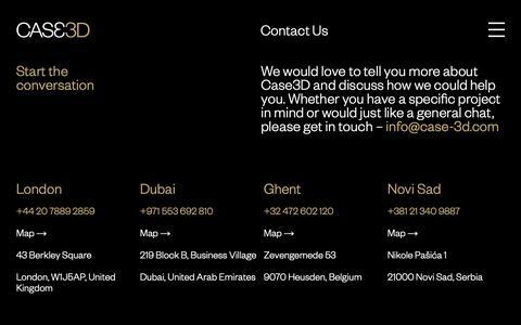 Screenshot of Contact Page case-3d.com - Contact Us | Case 3D - captured Nov. 17, 2018