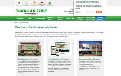Dollar Tree, Inc.: Customer Service