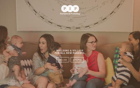 Screenshot of Home Page pipaustin.org - Partners in Parenting - captured Sept. 27, 2018