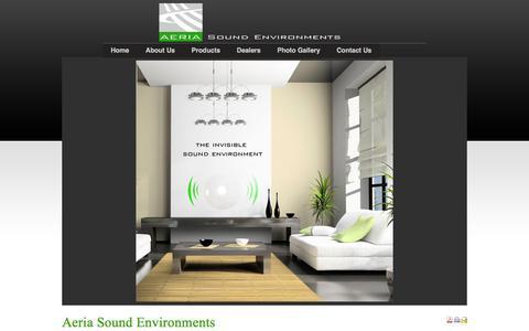 Screenshot of Home Page aeria.ca - Aeria Sound Environments - captured Feb. 5, 2016