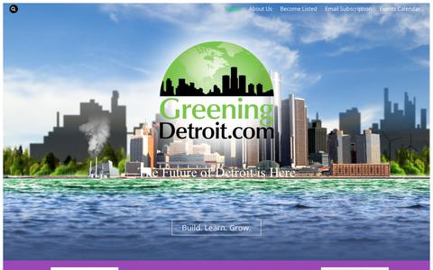 Screenshot of Home Page greeningdetroit.com - Greening Detroit - Metro Detroit's Future for a Better Tomorrow - captured Sept. 21, 2017