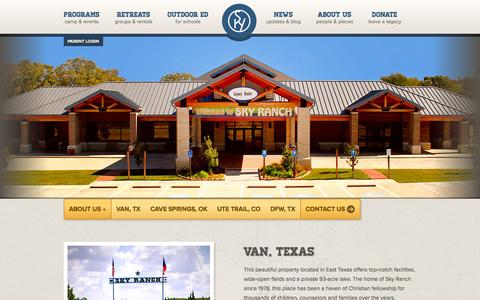 Screenshot of Locations Page skyranch.org - Sky Ranch Camp Locations | Directions & Contact Details - captured Sept. 24, 2014