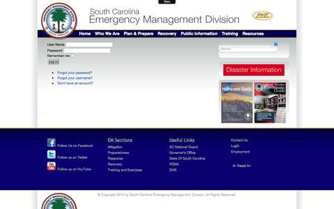 Screenshot of Login Page scemd.org - Login - captured Oct. 9, 2014