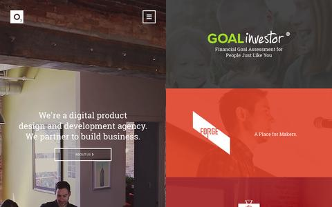 Screenshot of Home Page o3world.com - O3 World - Digital Product Design and Development Agency - captured Aug. 12, 2015
