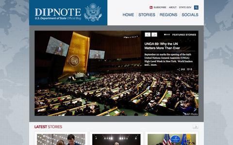 Screenshot of Blog state.gov - DipNote | U.S. Department of State Official Blog - captured Sept. 19, 2014