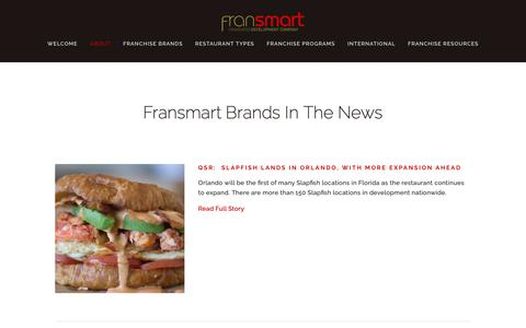 Screenshot of Press Page fransmart.com - IN THE NEWS — Fransmart - captured Nov. 6, 2018