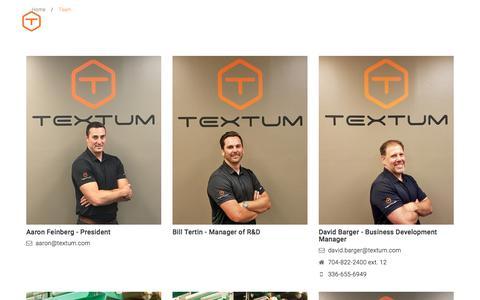 Screenshot of Team Page textum.com - Team | Textum - captured Nov. 9, 2017