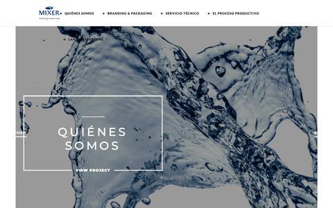 Screenshot of Home Page mixerpack.es - Perfumes y cosmética de marca blanca y terceros. Mixerpack - captured Dec. 17, 2018