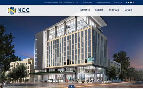 Screenshot of Home Page ncghotels.com - Hotel Property Management - North Central Group - captured Feb. 15, 2016