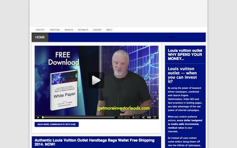 Screenshot of Home Page fpmediainc.com - Authentic Louis Vuitton Outlet Handbags Bags Wallet Free Shipping 2014 - captured Jan. 28, 2015