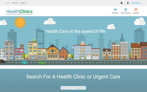 Home - Digital Healthcare Solutions For Health Clinics, Urgent Care & Private Practice ~ HealthClinics.com