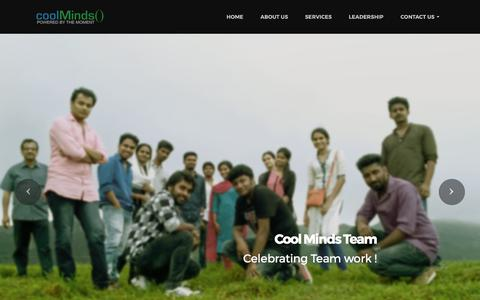 Screenshot of Home Page About Page Contact Page Jobs Page Team Page coolmindsinc.com - CoolMinds: SAAS, E-commerce, Enterprise mobile apps - captured Aug. 22, 2017