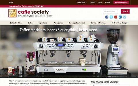 Screenshot of Home Page caffesociety.co.uk - Caffe Society; Commercial Coffee Machines, Bean To Cup Coffee Machines - captured Jan. 16, 2015