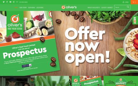 Screenshot of Home Page oliversrealfood.com.au - Oliver's Real Food - captured June 11, 2017
