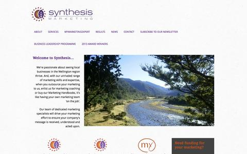 Screenshot of Home Page synthesis.co.nz - Synthesis Marketing - captured Oct. 7, 2014