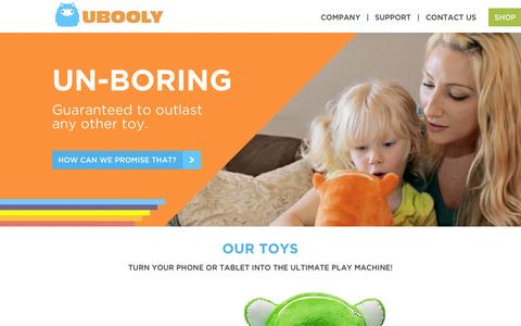 Screenshot of Home Page ubooly.com - The Learning Toy that Listens | Ubooly - captured Oct. 1, 2015