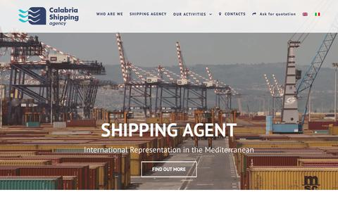 Screenshot of Home Page calship.it - CALSHIP - CALABRIA SHIPPING AGENCY | Shipping Agency - captured July 10, 2017