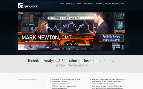 Screenshot of Home Page greywolfep.com - Greywolf Execution Partners - - captured Sept. 17, 2015