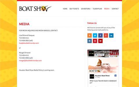 Screenshot of Press Page houstonboatshows.com - MEDIA   2018 Houston Summer Boat Show - captured July 22, 2018