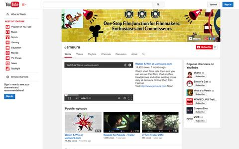 Screenshot of YouTube Page youtube.com - Jamuura  - YouTube - captured Oct. 29, 2014