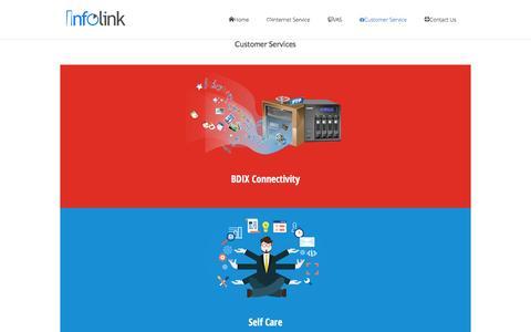 Screenshot of Support Page infolinkbd.com - Customer ServiceInternet Service Provider – ISP - captured Nov. 26, 2016