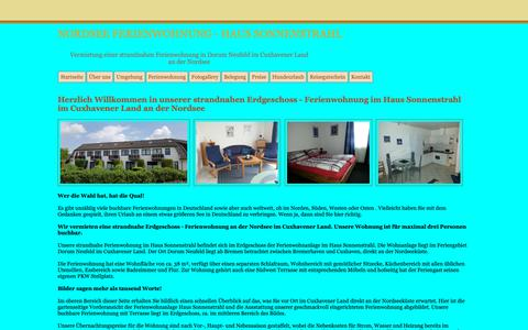 Screenshot of Home Page nordsee-haus-sonnenstrahl.de - Nordsee Haus Sonnenstrahl - Ferienwohnung Vermietung - captured Oct. 30, 2018