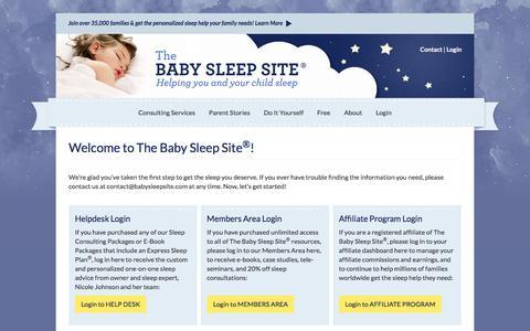 Screenshot of Login Page babysleepsite.com - Welcome to The Baby Sleep Site®! - captured Sept. 2, 2017