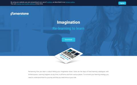 Screenshot of Landing Page cornerstoneondemand.com - Imagination - Re-learning to learn - captured Sept. 19, 2018