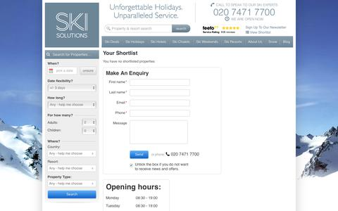 Luxury Ski Holidays | Ski Solutions