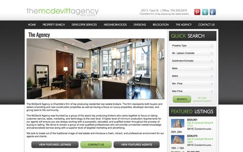 Screenshot of About Page themcdevittagency.com - Charlotte Condos & Homes | About Us | The McDevitt Agency - captured Sept. 30, 2014