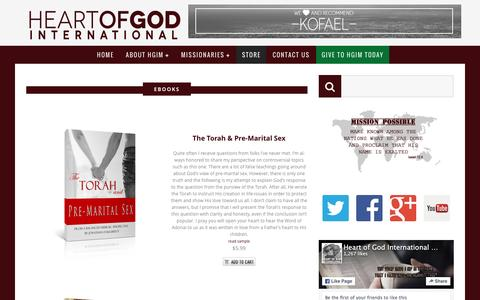 Screenshot of Products Page heartofgodinternational.org - » Products - captured Jan. 28, 2016