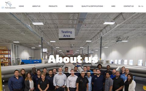 Screenshot of About Page bfaerospace.com - About us : BF Aerospace - captured Aug. 1, 2018