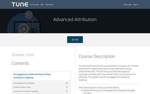 Advanced Attribution
