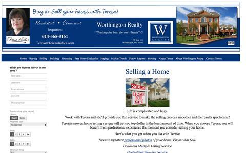 Screenshot of Products Page teresabutler.com - Selling a Home - captured Nov. 19, 2016