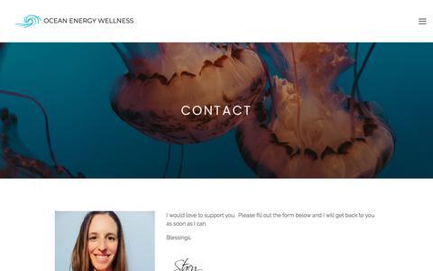Screenshot of Contact Page oceanenergywellness.com - Contact ・Ocean Energy Wellness・Holistic Living - captured Sept. 21, 2018